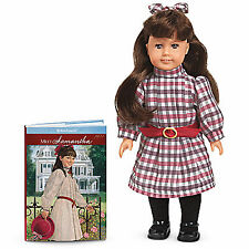 "American Girl SAMANTHA MINI DOLL WITH CLEAR COVER 6""  + Book NEW Historical"