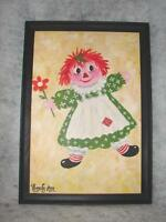 Oil Painting Raggedy Ann Doll - Hand Painted By Artist