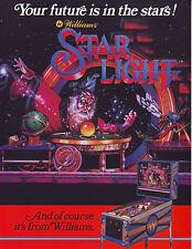 WILLIAMS STAR LIGHT ORIGINAL NOS PINBALL MACHINE  FLYER BROCHURE STARLIGHT 1984