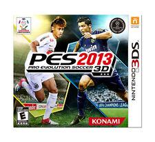 PES: Pro Evolution Soccer 2013 3D (Nintendo 3DS, 2013) Game Case & Manual