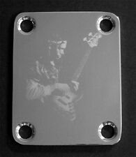 GUITAR NECK PLATE Custom Engraved Etched - Fit Fender Bass - JACO PASTORIUS