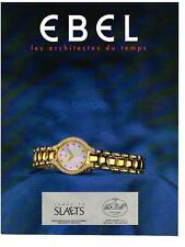 PUBLICITE ADVERTISING   1994    EBEL  collection BELUGA  montres