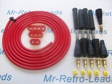 RED 8MM PERFORMANCE IGNITION LEAD KIT HOLDERS NUMBERS FOR KIT CARS 3 METERS LEAD