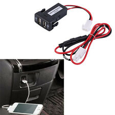 Twin Dual Port 2 USB 12V Car Auto Lighter Socket Charger Adapter for TOYOTA VIGO