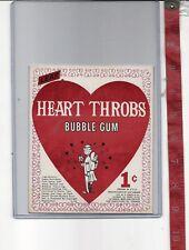 Vintage vending machine display 1c Leaf Heart Throbs gum card Free Shipping