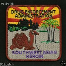 DRUG ENFORCEMENT ADMINISTRATION DEA SOUTHWEST ASIAN HEROIN POLICE PATCH