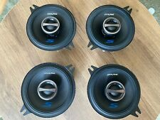 Lot Of Four (4) Alpine SPS-410 2-Way 4in. Car Speakers