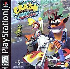 Crash Bandicoot Warped black cover (Sony PlayStation 1, 1998) Ps1 Video Game
