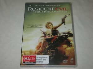 Resident Evil - The Final Chapter - Brand New & Sealed - Region 4 - DVD