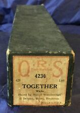 RP2729 Vtg Q.R.S. QRS Word Roll Player Piano Music Roll 4230 Together
