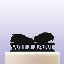 Personalised Acrylic Impreza Racing Car Boys Birthday Cake Topper Decoration
