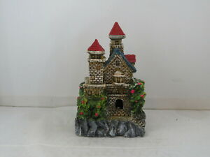 Vintage Aquarium Ornament - Olde English House by Fritz - Hand Painted
