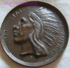 MED5176 - MEDAILLE INDIAN HEAD 1898 NEW-YORK CITY