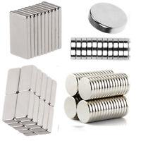 10/20/50/200xN35 Aimant Cuboïde Bloc Disque Néodyme Puissant Magnet Magnétique
