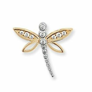 9ct Yellow Gold Dragon Fly Pendant New