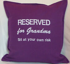 Reserved for Grandma Mothers day birthday gift personalised embroidered cushion