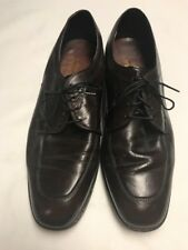FREEMAN FREE FLEX MEN'S BROWN LEATHER OXFORDS SZ 9.5D VERY GOOD+ CONDITION