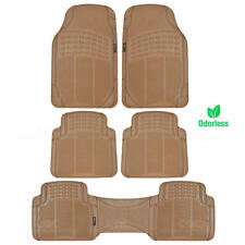Eco-Tech MotorTrend Floor Mats Van Truck Beige All Weather Protection 5 Piece