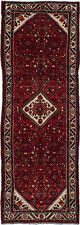 """Hand-knotted Carpet 3'8"""" x 10'9"""" Traditional Vintage Wool Rug"""
