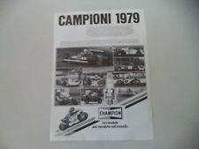 advertising Pubblicità 1980 CHAMPION e ANGEL NIETO/KENNY ROBERTS/ALAIN PROST