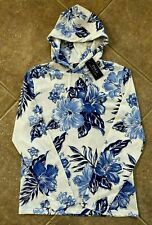 Polo Ralph Lauren Jersey Knit Hooded T Shirt Mens L Blue Multi w/ Navy Pony NWT