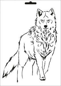 Wandschablone Maler T-shirt Schablone W-635 Wolf ~ UMR Design