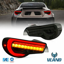 LED Tail Lights For 13-17 TOYOTA 86 SUBARU BRZ Rear Lamps Assembly Smoked Lens