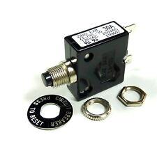 Philmore 3 Amp Push Button Circuit Breaker 32V DC or 250V AC, Fuse