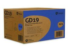 GD19 10 Boxes Case 1000 Blue Nitrile Powder Latex Free Disposable Gloves