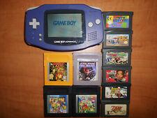 Game Boy Advance Violett mit 10 Game Boy Spiele(Zelda,Pokemon,Mario usw...)!!!