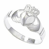 Irish Claddagh Ring Sterling Silver Friendship Love 925 hallmarked