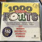 1000 Best Fonts Family Clip Art CD-ROM Windows PC Cosmi Graphic Design
