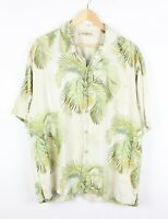 Tommy Bahama Mens Vintage Hawaiian Aloha 100% Silk Relaxed Fit Shirt - Size L