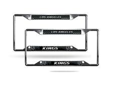 Los Angeles LA Kings NHL Chrome (2) EZ View License Plate Frame Set