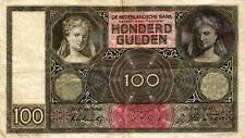 05 Netherlands / Niederlande P51c 100 Gulden 1942