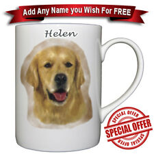 Golden Retriever - Fine bone china mug + Personalised with a name for free