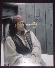 JOHNNY DEPP Signed PIRATES OF THE CARIBBEAN 16 x 20 PHOTO with PSA COA