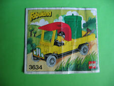 Lego Fabuland Bauanleitung 3634 only Instructions