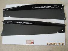"1967 - 1968 Chevy GMC Truck Show Panel 2 pc Black Anodized  ""BOWTIE / CHEVROLET"""