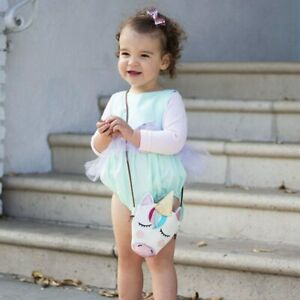 UK Baby Kids Girls Unicorn Shoulder Bag Crossbody Purse Wallet Handbag Messenger