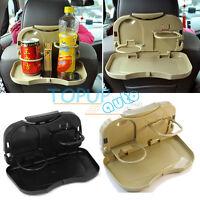 Car Back Seat Folding Table Drink Food Cup Tray Holder Stand Desk Organiser Rack