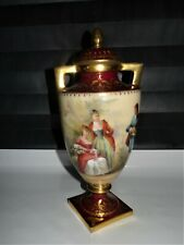 ROYAL VIENNA JANRL LIEBLINGSLIED BEEHIVE MARK GOLD GILT ORNATE URN 9""