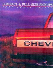 1991 CHEVY PICKUP TRUCK DELUXE BROCHURE-SS454-C1500-K1500-C2500-K2500-C3500-S10