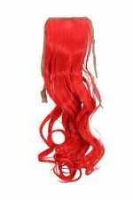 Postiche TRESSE ROUGE ondulés 45cm yzf-tc18-113 BANDE cheveu pince extensions