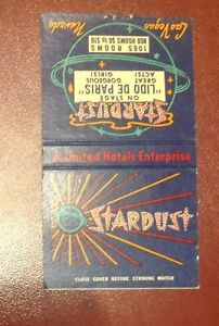 STARDUST / LIDO DE PARIS - Las Vegas - matchbook cover