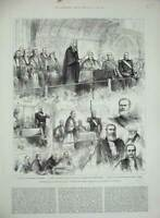 Old Antique Print 1883 Lord Wolseley Alcester Guildhall Town Clerk London 19th