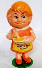 "Vintage 1970 World's Best Mother Retro Greatest Mom Figure 4.5"" Berries"