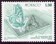 STAMP / TIMBRE DE MONACO N° 1585 ** FAUNE / PAPILLON ET TIMBRE POSTE