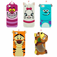 Silicone Rubber Case Cover 3D Cartoon Character For Apple iPhone 4/4s 5/5s/5c 6+