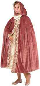 Royal Princess Cape Medieval Fancy Dress Halloween Costume Accessory 3 COLORS